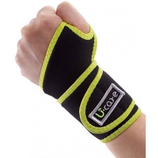 Ściągacz bambusowy na nadgarstek U-Care z magnesami U-Care - 1 | klubfitness.pl | sprzęt sportowy sport equipment