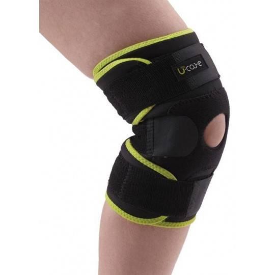 Ściągacz bambusowy na kolano U-Care z magnesami | rozmiar M U-Care - 1 | klubfitness.pl