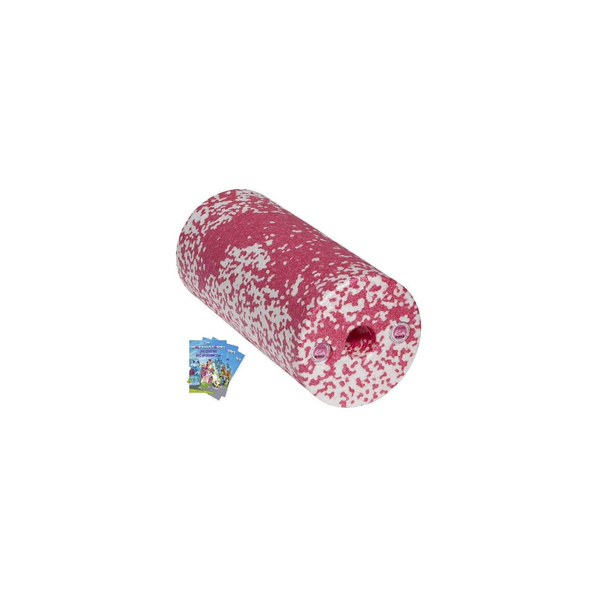 Wałek do masażu dla dzieci OMS KIDS ROLL różowy