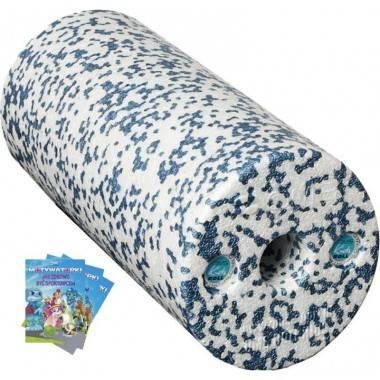 Wałek do masażu dla dzieci OMS KIDS ROLL K1 z książeczką niebieski