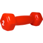 Hantla fitness winylowa Stayer Sport Hex 2lb (0.9kg) | czerwona,producent: Stayer Sport, zdjecie photo: 2 | online shop klubfitn