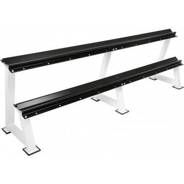 Stojak na hantle IFS R-3006-W biały | 2 poziomy | 125cm ÷ 500cm,producent: IRONSPORTS, zdjecie photo: 6 | online shop klubfitnes