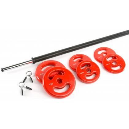 Zestaw do aerobiku fitness IFS BodyPump 18,5kg,producent: IRONSPORTS, zdjecie photo: 4   online shop klubfitness.pl   sprzęt spo