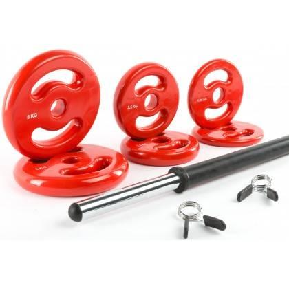 Zestaw do aerobiku fitness IFS BodyPump 18,5kg IRONSPORTS - 1 | klubfitness.pl