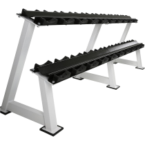 Stojak na hantle IFS R-3008-W-HS biały | 2 poziomy | 125cm ÷ 500cm,producent: IRONSPORTS, zdjecie photo: 5 | online shop klubfit