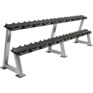 Stojak na hantle IFS R-3008-S-HS srebrny | 2 poziomy | 125cm ÷ 500cm,producent: IRONSPORTS, zdjecie photo: 6 | online shop klubf