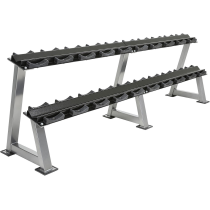 Stojak na hantle IFS R-3008-S-HS srebrny | 2 poziomy | 125cm ÷ 500cm,producent: IRONSPORTS, zdjecie photo: 1 | online shop klubf