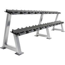 Stojak na hantle IFS R-3008-S-HS srebrny | 2 poziomy | 125cm ÷ 500cm,producent: IRONSPORTS, zdjecie photo: 4 | online shop klubf