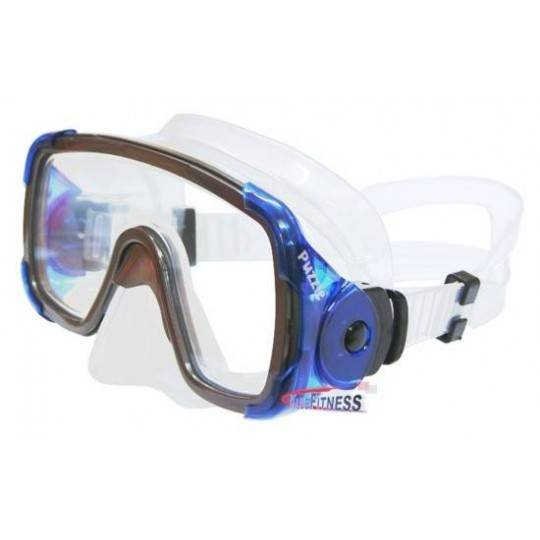 Maska do nurkowania pływania Salvas Puzzle Silicone Senior niebieska Salvas - 1 | klubfitness.pl