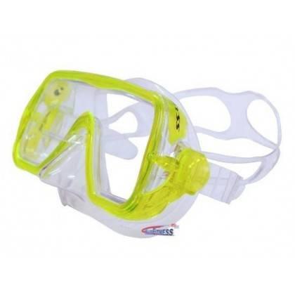 Maska do nurkowania pływania Salvas Abyss Silflex Senior żółta Salvas - 2 | klubfitness.pl | sprzęt sportowy sport equipment