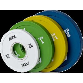 Obciążenia gumowane olimpijskie frictional ATX® 50-FGP | waga 0.5kg ÷ 2kg ATX® - 1 | klubfitness.pl