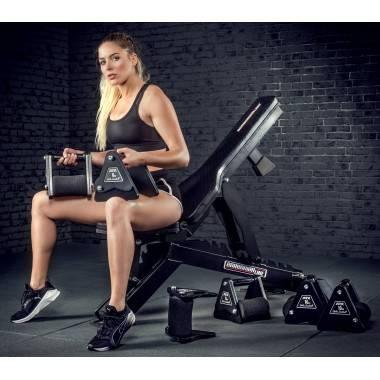 Hantle stałe żeliwne ATX® Delta | zestaw 9 par | waga: 4kg ÷ 20kg,producent: , zdjecie photo: 9