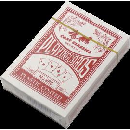 Karty do gry w pokera No. 988 plastikowe | talia czerwona SPARTAN SPORT - 1 | klubfitness.pl