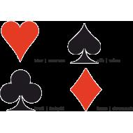 Karty do gry w pokera No. 988 plastikowe | talia granatowa SPARTAN SPORT - 3 | klubfitness.pl