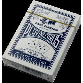 Karty do gry w pokera No. 988 plastikowe | talia granatowa,producent: SPARTAN SPORT, zdjecie photo: 1 | online shop klubfitness.