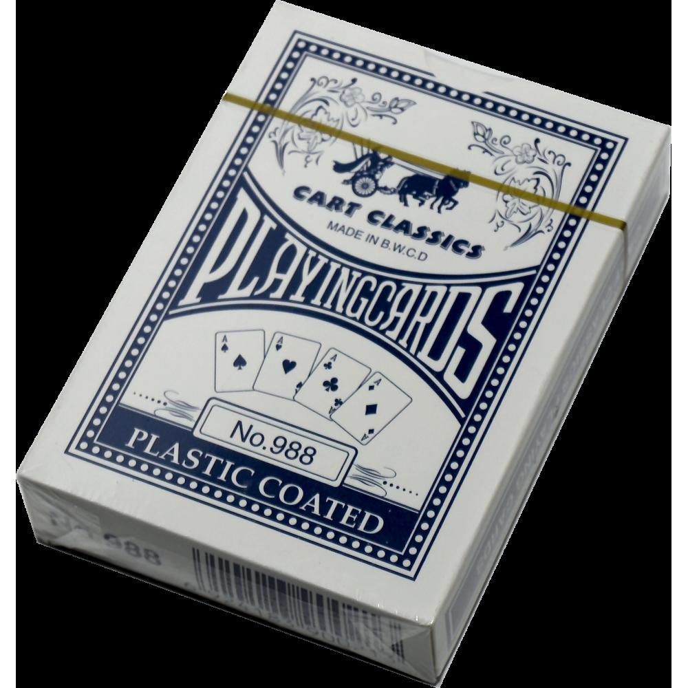 Karty do gry w pokera No. 988 plastikowe | talia granatowa SPARTAN SPORT - 1 | klubfitness.pl