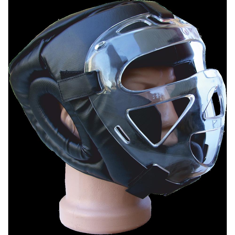 Kask ochronny na głowę Fighter z maską cristal | rozmiar senior FIGHTER - 1 | klubfitness.pl