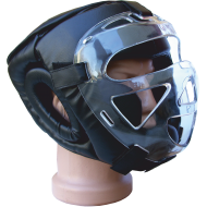 Kask ochronny na głowę Fighter z maską cristal | rozmiar senior,producent: FIGHTER, zdjecie photo: 1 | online shop klubfitness.p