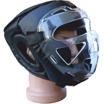 Kask ochronny na głowę Fighter z maską cristal | rozmiar senior,producent: FIGHTER, zdjecie photo: 1