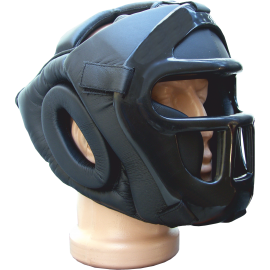 Kask ochronny na głowę Allright z maską | rozmiar senior ALLRIGHT - 1 | klubfitness.pl | sprzęt sportowy sport equipment