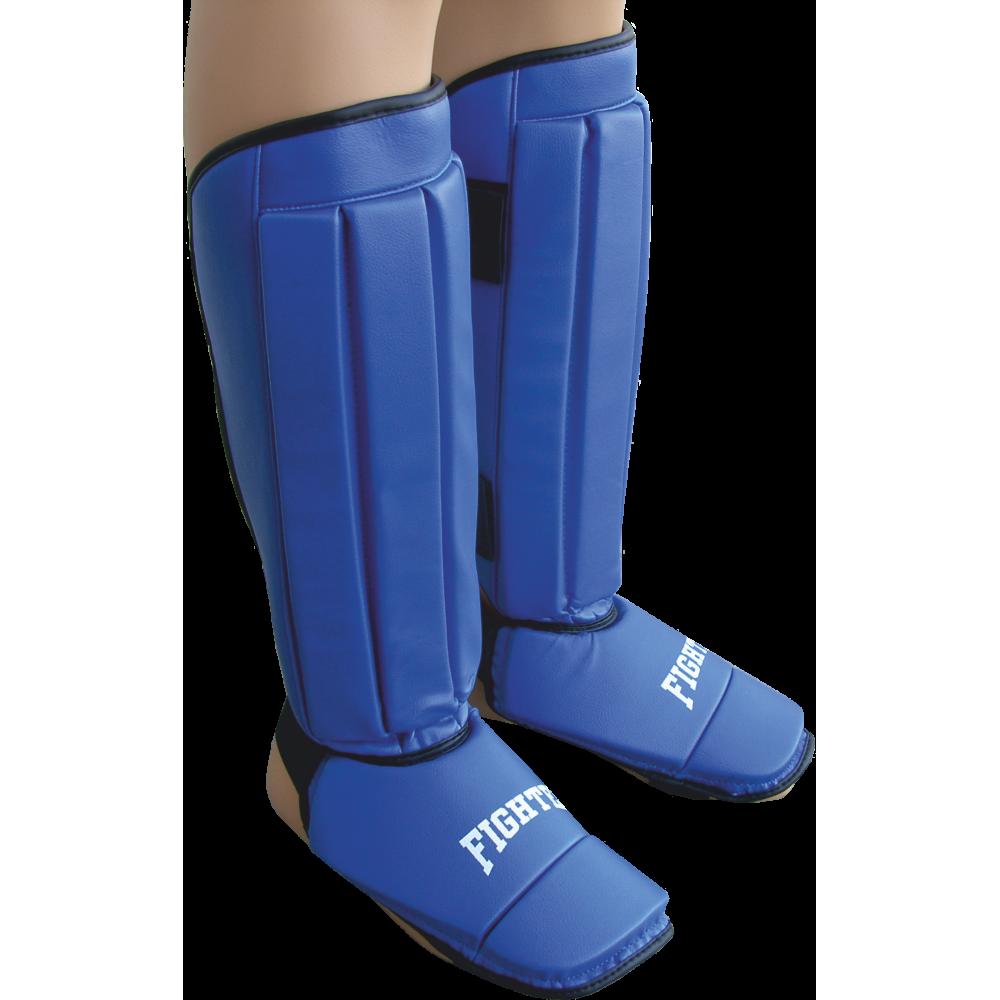 Nagolennik ze stopą Fighter PVC | niebieski FIGHTER - 1 | klubfitness.pl | sprzęt sportowy sport equipment