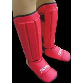 Nagolennik ze stopą Fighter PVC   czerwony,producent: FIGHTER, zdjecie photo: 1   online shop klubfitness.pl   sprzęt sportowy s