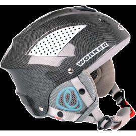 Kask narciarski snowboardowy Worker Snow HI-FI | carbon | ze słuchawkami,producent: WORKER, zdjecie photo: 1 | online shop klubf