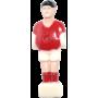 Figurka zawodnika do piłkarzyków 104mm/Ø13mm | czerwony-biały NONAME - 1 | klubfitness.pl