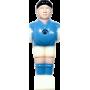 Figurka zawodnika do piłkarzyków 110mm/Ø16mm | niebieski-biały NONAME - 1 | klubfitness.pl