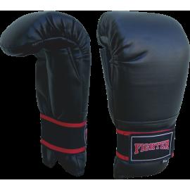 Rękawice przyrządówki wciągane Fighter W2 | czarne FIGHTER - 1 | klubfitness.pl