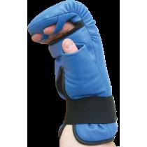 Rękawice przyrządówki wciągane Fighter W6 | niebieskie FIGHTER - 2 | klubfitness.pl