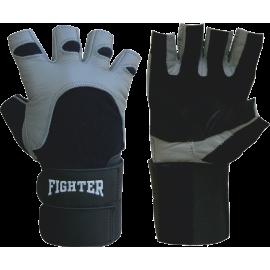 Rękawiczki kulturystyczne skórzane Fighter Duble FIGHTER - 1 | klubfitness.pl | sprzęt sportowy sport equipment