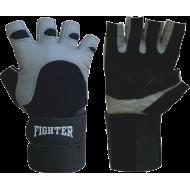 Rękawiczki kulturystyczne skórzane Fighter Duble,producent: FIGHTER, zdjecie photo: 1 | online shop klubfitness.pl | sprzęt spor