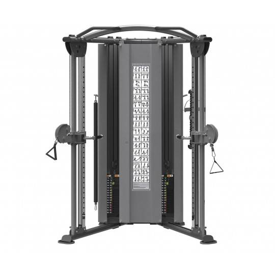 Brama treningowa wąska narożna IMPULSE IT9330 z wbudowanym stosem 2 x 91 kg,producent: IMPULSE, photo: 1