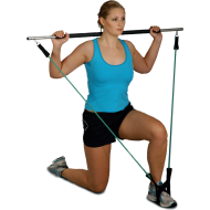Gryf fitness z ekspanderem Clip-Tube Bodylastics Workout-Stick | długość 120cm,producent: Bodylastics, zdjecie photo: 3