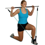 Gryf fitness z ekspanderem Clip-Tube Bodylastics Workout-Stick | długość 120cm,producent: Bodylastics, zdjecie photo: 15 | klubf