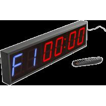 Cyfrowy zegar z 6-cyfrowym wyświetlaczem | aluminiowa obudowa,producent: IFS, zdjecie photo: 1