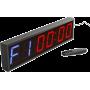 Cyfrowy zegar z 6-cyfrowym wyświetlaczem | aluminiowa obudowa IRONSPORTS - 1 | klubfitness.pl