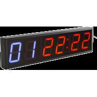 Cyfrowy zegar z 6-cyfrowym wyświetlaczem | aluminiowa obudowa,producent: IFS, zdjecie photo: 2