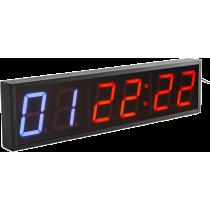 Cyfrowy zegar z 6-cyfrowym wyświetlaczem | aluminiowa obudowa,producent: IRONSPORTS, zdjecie photo: 2 | online shop klubfitness.
