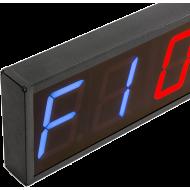 Cyfrowy zegar z 6-cyfrowym wyświetlaczem | aluminiowa obudowa,producent: IFS, zdjecie photo: 3