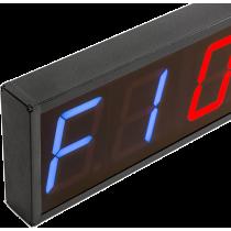 Cyfrowy zegar z 6-cyfrowym wyświetlaczem | aluminiowa obudowa,producent: IRONSPORTS, zdjecie photo: 3 | online shop klubfitness.