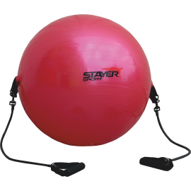Piłka gimnastyczna z ekspanderami Stayer Sport | średnica 85cm | czerwona,producent: Stayer Sport, zdjecie photo: 1 | online sho
