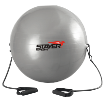 Piłka gimnastyczna z ekspanderami Stayer Sport | średnica 85cm | srebrna,producent: Stayer Sport, zdjecie photo: 1