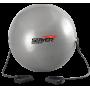 Piłka gimnastyczna z ekspanderami Stayer Sport | średnica 75cm | srebrna Stayer Sport - 1 | klubfitness.pl | sprzęt sportowy spo