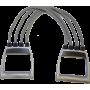 Ekspander gumowy regulowany Spartan Sport | 4 gumy SPARTAN SPORT - 1 | klubfitness.pl | sprzęt sportowy sport equipment