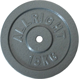 Obciążenie żeliwne hammertone Allright 15kg | 28mm,producent: ALLRIGHT, zdjecie photo: 1