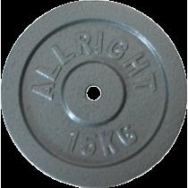 Obciążenie żeliwne hammertone Allright 15kg   28mm,producent: ALLRIGHT, zdjecie photo: 1