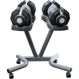 Hantle regulowane EZDUMBBELLS EZ025SET | 2x25kg ze stojakiem,producent: Body Trading, zdjecie photo: 1