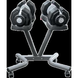 Hantle regulowane EZDUMBBELLS EZ025SET | 2x25kg ze stojakiem Body Trading - 1 | klubfitness.pl | sprzęt sportowy sport equipment